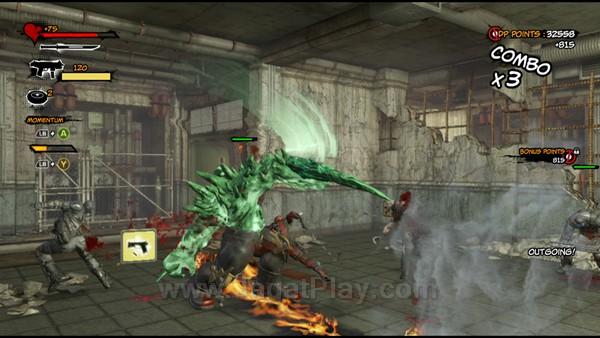 Ketika bar yang dibutuhkan penuh, Deadpool mampu mengeluarkan serangan spesial yang disebut Momentum Attack untuk menghasilkan damage signifikan untuk area yang lebih luas.