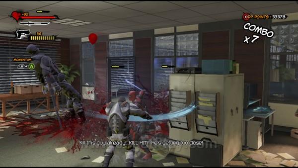 Tidak ada yang istimewa di sisi gameplay Deadpool. Ia tampil tak ubahnya sebuah game hack and slash standar, tanpa inovasi berarti.