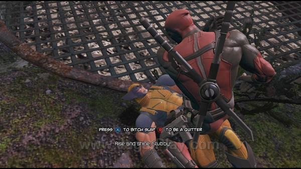 Game mana lagi yang memungkinkan Anda untuk menampar Wolverine seenak jidat? Hanya Deadpool yang mampu melakukannya.