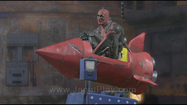 Dengan kegagalan di sisi gameplay, tampuk tanggung jawab kualitas kini hanya terletak pada kemampuan High Moon untuk mempresentasikan kerpibadian unik Deadpool ke dalam game. Sesuatu yang berhasil mereka lakukan dengan baik.