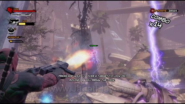 Selain serangan melee, Deadpool juga diperkuat dengan beragam senjata untuk serangan jarak jauh. Anda juga dapat mengkombinasikannya dengan serangan melee untuk mendapatkan kombo baru yang disebut Gunkatas.