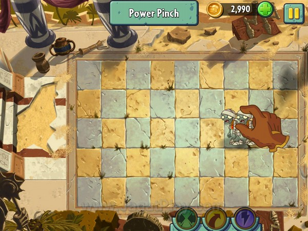 Sistem power up lain dapat dipicu dengan mengorbankan koin dalam jumlah tertentu. Anda dapat melakukan gestur tangan khusus untuk membunuh banyak zombie sekaligus, dari memenggal, melempar, hingga membakar mereka hingga hangus.