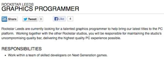 Lowongan pekerjaan inilah yang kembali menumbuhkan harapan gamer PC. Deskripsi yang ada dengan jelas menuliskan keinginan Rockstar untuk melakukan proses port game teranyar mereka ke PC. Apakah ini berarti proses port GTA V akan dimulai? Atau mungkin kita akan melihat nama yang lebih lawas seperti Red Dead Redemption? Rockstar sendiri belum mengemukakan apapun secara resmi.