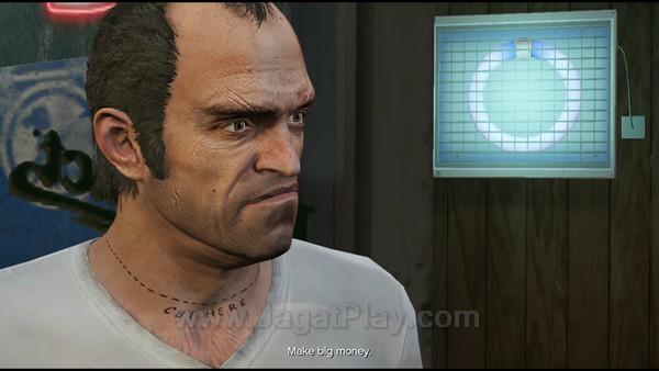 Trevor pun berusaha mencari dan meminta kebenaran dari Michael.
