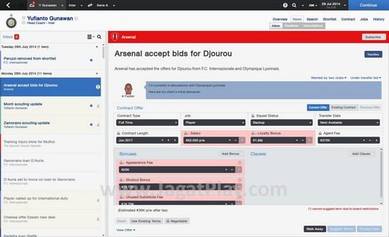 """Negosiasi kontrak pun bisa dilakukan dengan cepat melalui """"Inbox"""" baru ini."""