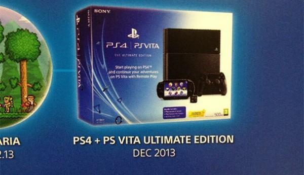 Sony kembali dirumorkan tengah mempersiapkan bundle penjualan PS 4 + PS Vita lewat sebuah Ultimate Edition. Informasi ini bocor lewat produk yang ditawarkan salah satu situs retail besar di Inggris.