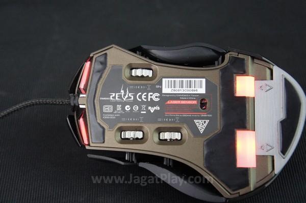 Gear untuk menyesuaikan body pada bagian samping.