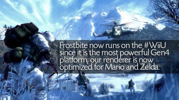 """Alih-alih lucu, """"lelucon"""" yang dilontarkan akun resmi Frostbite Engine justru terkesan menyerang Nintendo secara langsung."""