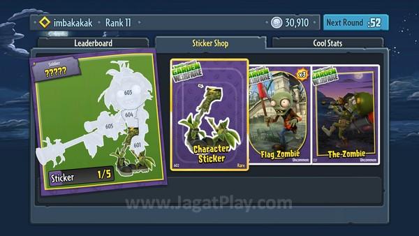Ada pack sticker yang bisa Anda beli untuk mengumpulkan item kosmetik dan part karakter baru.