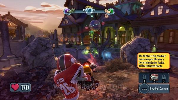 Berbeda dengan game berbasis multiplayer lain yang seringkali dua kubu dengan kelas yang sama, namun sekedar berbeda skin, PvZ: Garden Warfare menawarkan gaya bermain yang berbeda ketika Anda berperan sebagai Plants ataupun Zombies.