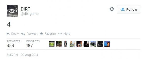 Sebuah teaser meluncur dari akun Twitter resmi milik Dirt, mengindikasikan kehadiran sang seri keempat.