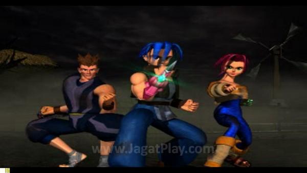 Tiga karakter utama - Vahn, Noa, dan Gala dibantu senjata Ra-Seru masing-masing berusaha menyelamatkan Legaia.