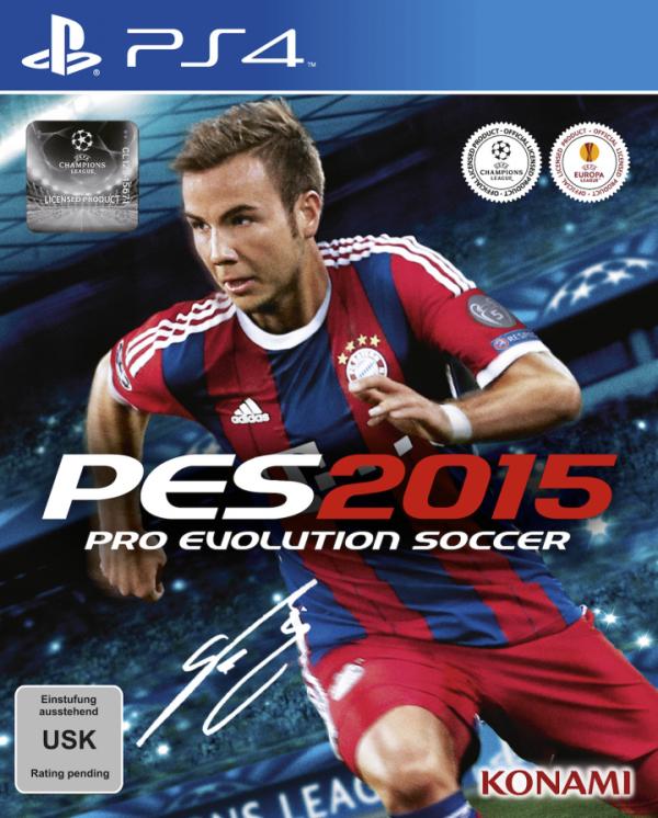 Bintang Bayern Munich - Mario Gotze juga diumumkan sebagai cover utama PES 2015. Game ini akan dirilis pada 13 November 2014 mendatang, dengan sebuah demo gratis meluncur 17 September 2014.