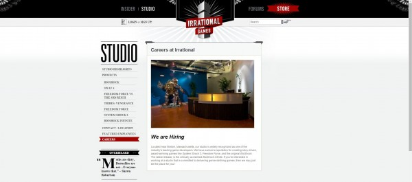 Ditutup bulan Februari 2014 lalu, Irrational Games - developer di balik franchise Bioshock memperlihatkan sinyal akan bangkit kembali.