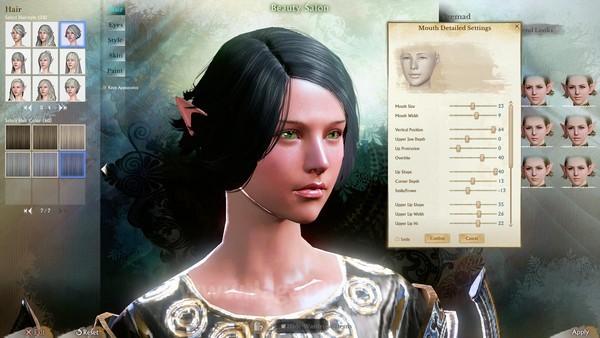 Pembuatan karakter baru terlihat indah.