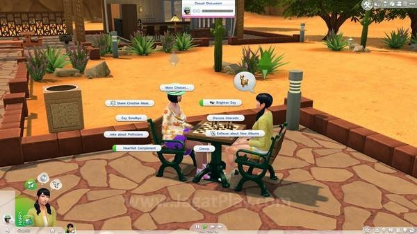 Pilihan dialog pada game ini jauh lebih berkembang dibanding seri game sebelumnya.