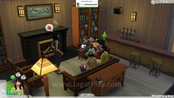 Sekarang Anda bisa memulai grup ngerumpi dengan banyak Sims sekaligus!