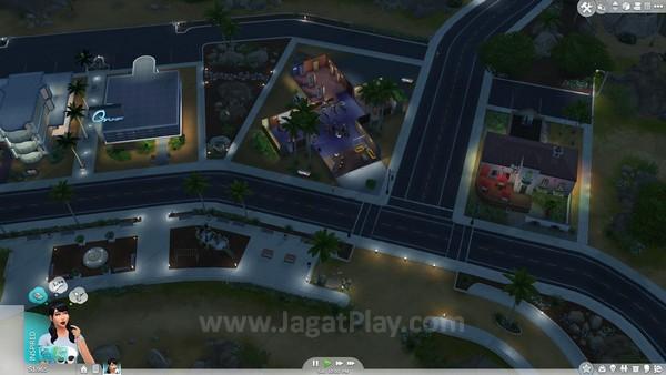 Kehidupan malam di kota Sims sama hidupnya seperti di dunia nyata.