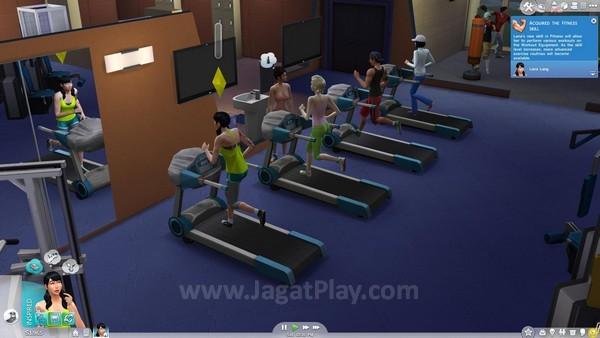 Olahraga selain membuat Sims bugar juga menjadi ajang untuk bersosialisasi.