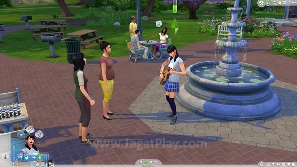 Setelah Sims memiliki skill yang cukup tinggi, ia bisa mulai mempertontonkan keahliannya pada Sims lain, bahkan mungkin mendapatkan uang!