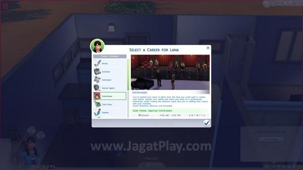 Sama seperti dunia asli, Sims juga membutuhkan pekerjaan untuk mendapatkan uang.