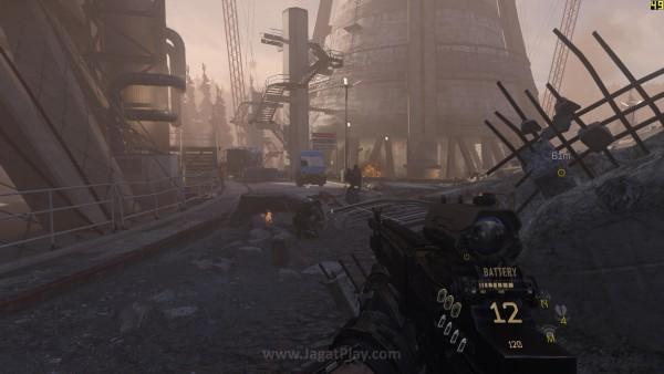 Gameplay di luar ruangan dengan banyak efek visual
