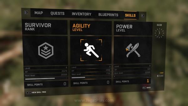Ada tiga kategori skill berbeda yang masing-masing mengusung pohon skillnya sendiri-sendiri. Menariknya lagi? Level mereka juga akan disokong oleh experience points yang berbeda.
