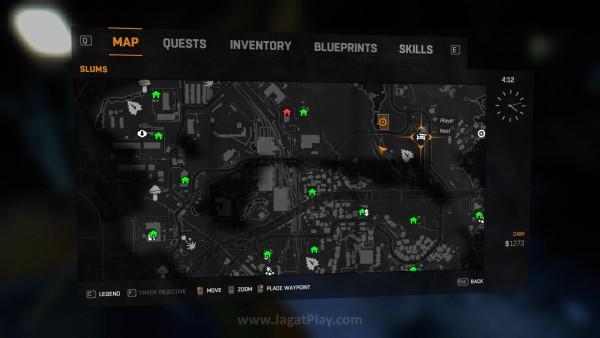 Menemukan Safe House ini  juga bukanlah perkara sulit. Mereka terpampang jelas di peta yang Anda miliki.