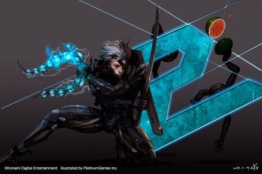 """Platinum melemparkan sebuah teaser image bertuliskan angka """"2"""" dan Raiden di dalamnya. Metal Gear Rising 2? Sayangnya harapan tersebut mati cepat setelah Platinum menegaskan bahwa ini hanyalah teaser untuk ulang tahun kedua Rising."""