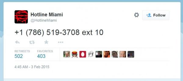 Gamer yang menelepon nomor misterius ini dan mereka yang memperlakukannya sebagai puzzle tiba di satu kesimpulan yang sama - Hotline Miami 2: Wrong Number akan meluncur pada 10 Maret 2015 mendatang. Sayangnya, Dennaton sendiri masih menolak memberikan konfirmasi apapun.