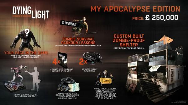 Punya uang 5 Milyar Rupiah menganggur? Anda mungkin tertarik memiliki bundle gila Dying Light - My Apocalypse Edition ini.
