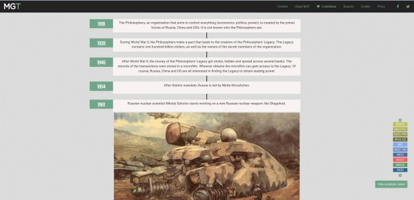 Menantikan Phantom Pain tapi bingung dengan timeline cerita yang ada? Anda bisa memaksimalkan situs bernama Metal Gear Timeline untuk mendapatkan informasi timeline ini dengan lebih lengkap dan cepat.