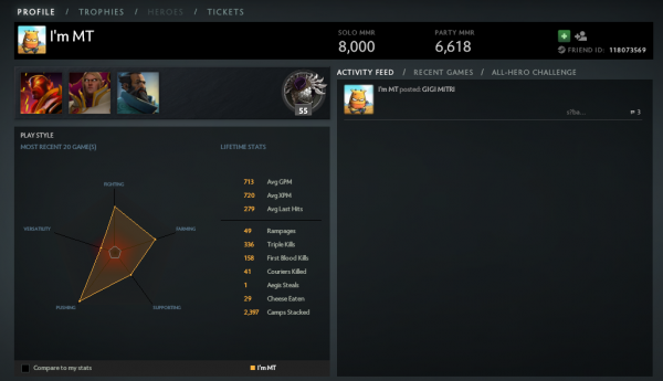 Dota 2 how to find matchmaking level
