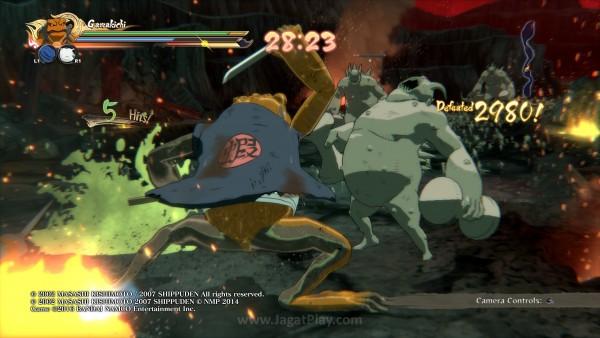 Beberapa titik cerita menawarkan sisi gameplay ala Musou.