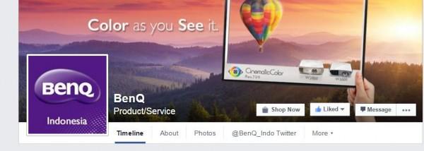Like fanpage BenQ Indonesia.