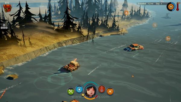 Sungai di game ini menyimpan sisa dari dunia lama, misalnya mobil dan rumah