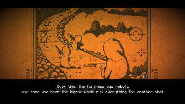 Cerita dibawakan dengan gaya 2D pixel ala 80-an