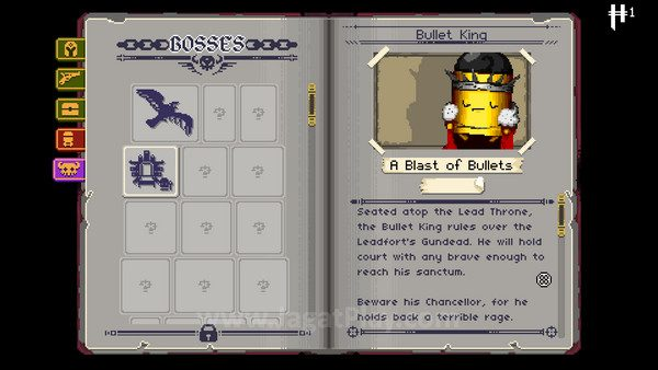 Setiap musuh, boss, dan perlengkapan yang ditemui akan terekam di dalam ensiklopedia