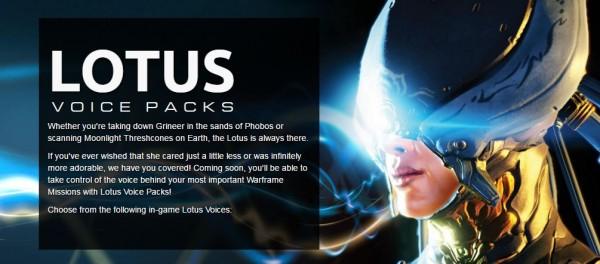lotus voice packs