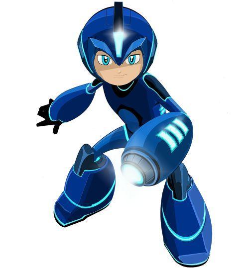 """Inilah wujud Mega Man yang """"baru"""" untuk film animasi yang rencananya meluncur tahun 2017 mendatang."""