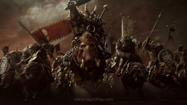 Greenskins, banyak jumlahnya dan cinta perang. Tak ada musuh, mereka perang sesama Orks