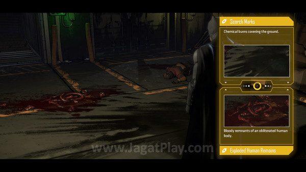 Sisi detektif seorang Batman disederhanakan menjadi sekedar menghubungkan bukti di lapangan dan menikmati konklusi yang ada.