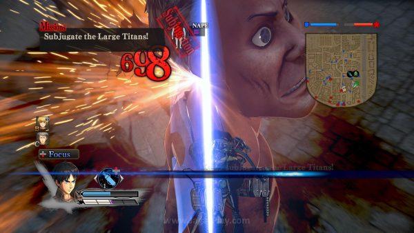 Mengikuti lore yang ada, satu-satunya cara untuk membunuh para Titan ini adalah dengan memotong bagian belakang lehernya.