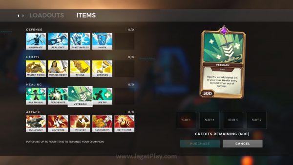 Elemen MOBA lebih kental dengan sistem item dan card yang ada.