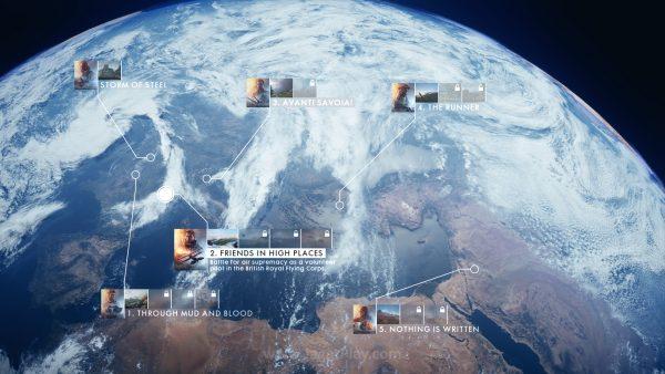 Tak seperti game FPS pada umumnya, Battlefield 1 mengambil perspektif 5 karakter dari 5 belahan dunia.