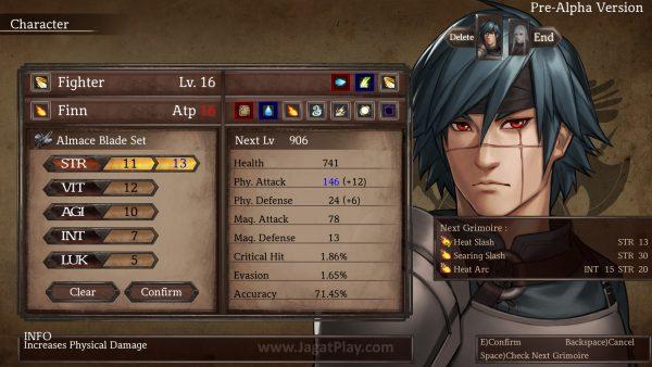 Beda dengan pakem JRPG pada biasanya, Anda punya kebebasan membangun atribut karakter di Legrand Legacy.