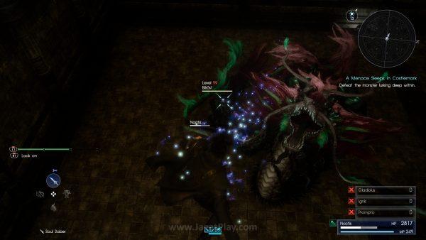 Tantangan musuh level tinggi di beragam tingkat menguji kemampuan Anda menguasai Final Fantasy XV.