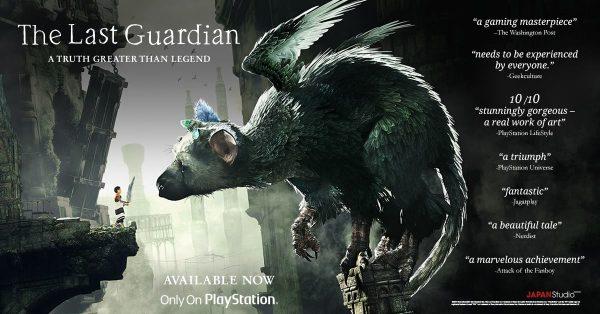 Kita jadi salah satu yang featured di iklan resmi The Last Guardian boooo..