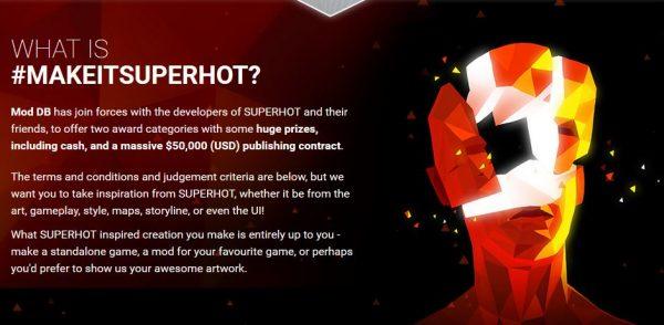 Game FPS unik - Superhot menyelenggarakan sayembara berhadiah USD 50.000.