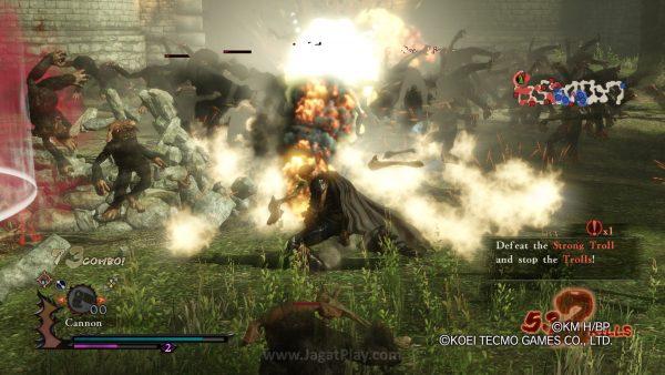 Guts juga akan diperkuat oleh sub-weapon yang lain.